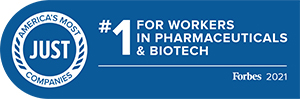 Forbes 2021 America's Most Just Companies Number 1 in Pharmaceuticals and Biotech