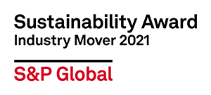 S&P Global Sustainability Award Industry Mover 2021