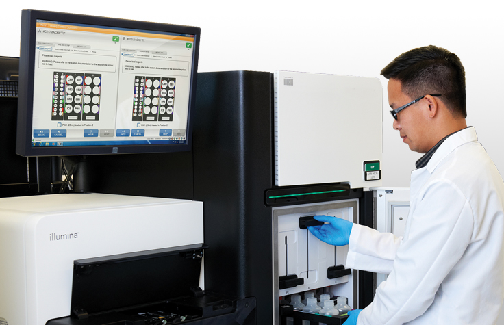 Scientist with HiSeq